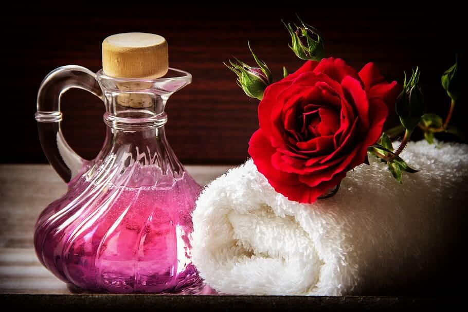 Perfume With beautiful Rose