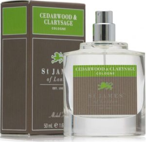 London cedar St James of wood and Clary sage cologne